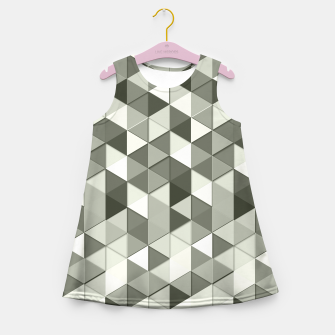 Thumbnail image of Grayscale triangle galore Girl's Summer Dress, Live Heroes