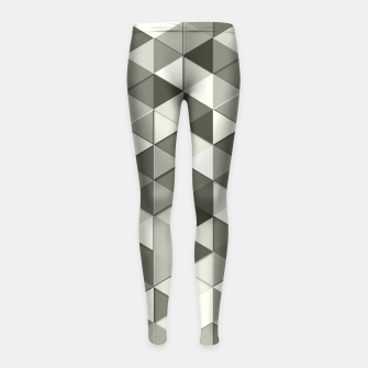 Thumbnail image of Grayscale triangle galore Girl's Leggings, Live Heroes