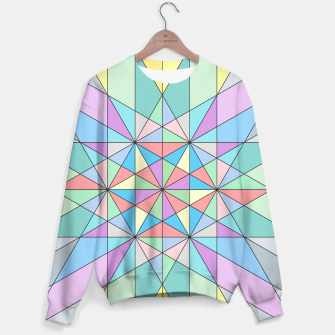 Colorful Pastel Mosaic Triangle Star Sweater thumbnail image