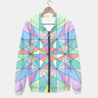 Colorful Pastel Mosaic Triangle Star Hoodie thumbnail image