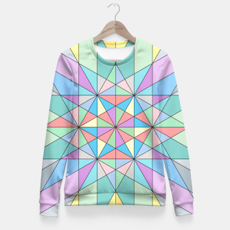 Colorful Pastel Mosaic Triangle Star Fitted Waist Sweater thumbnail image