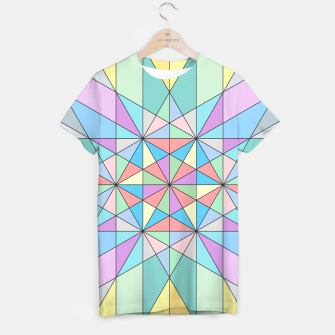 Colorful Pastel Mosaic Triangle Star T-shirt thumbnail image