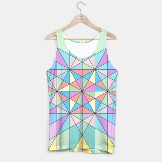 Colorful Pastel Mosaic Triangle Star Tank Top thumbnail image