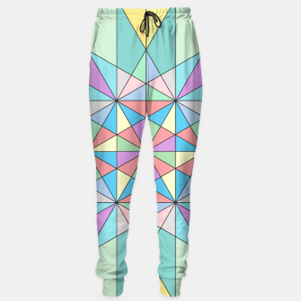 Colorful Pastel Mosaic Triangle Star Sweatpants thumbnail image