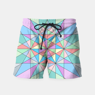 Colorful Pastel Mosaic Triangle Star Swim Shorts thumbnail image