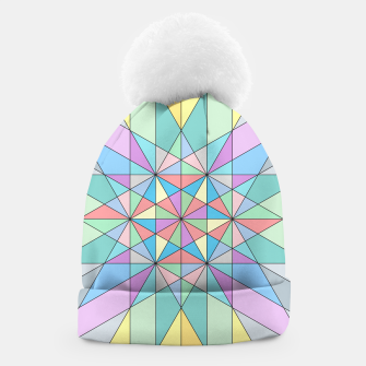 Colorful Pastel Mosaic Triangle Star Beanie thumbnail image