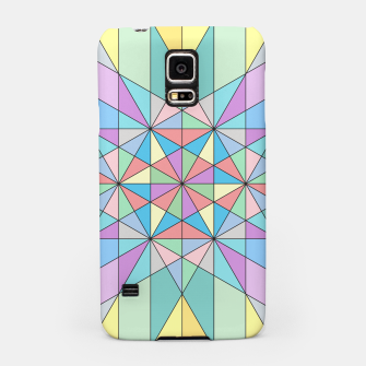 Colorful Pastel Mosaic Triangle Star Samsung Case thumbnail image