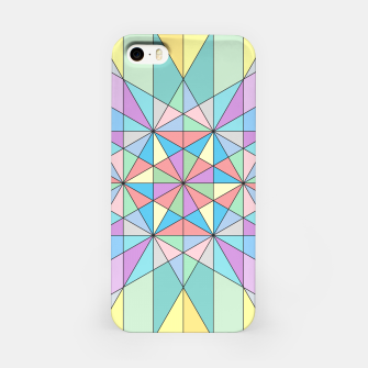 Colorful Pastel Mosaic Triangle Star iPhone Case thumbnail image
