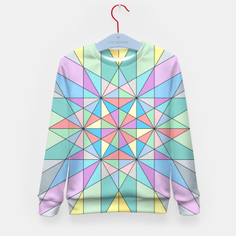 Colorful Pastel Mosaic Triangle Star Kid's Sweater thumbnail image