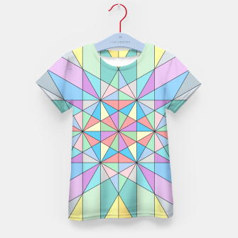 Colorful Pastel Mosaic Triangle Star Kid's T-shirt thumbnail image