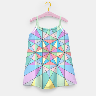 Colorful Pastel Mosaic Triangle Star Girl's Dress thumbnail image