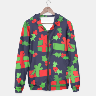 Miniatur Christmas Gifts and Holly Hoodie, Live Heroes