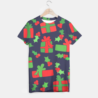 Miniatur Christmas Gifts and Holly T-shirt, Live Heroes