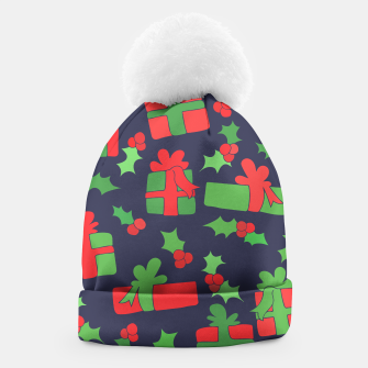 Miniatur Christmas Gifts and Holly Beanie, Live Heroes