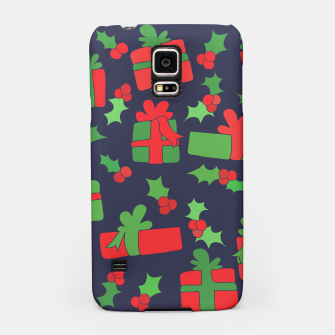 Miniatur Christmas Gifts and Holly Samsung Case, Live Heroes