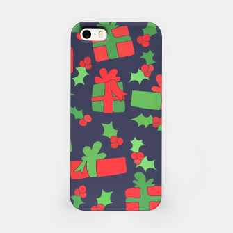 Miniatur Christmas Gifts and Holly iPhone Case, Live Heroes