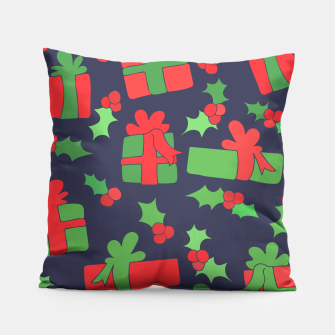 Thumbnail image of Christmas Gifts and Holly Pillow, Live Heroes