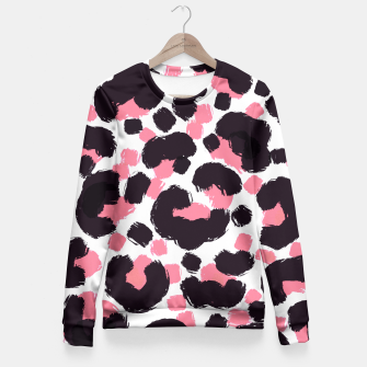 Thumbnail image of Pink Leopard Brushstrokes Fitted Waist Sweater, Live Heroes