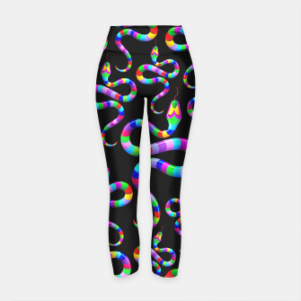 Thumbnail image of Snake Psychedelic Rainbow Colors Yoga Pants, Live Heroes