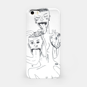 Thumbnail image of Brain and Heart iPhone Case, Live Heroes