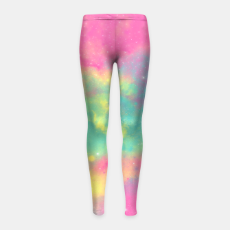 Miniatur Colorful Environment Girl's Leggings, Live Heroes