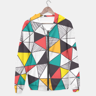 Miniatur Geometric and colorful pattern Hoodie, Live Heroes