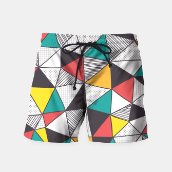 Miniatur Geometric and colorful pattern Swim Shorts, Live Heroes