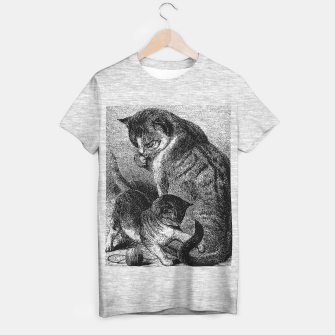 Thumbnail image of Mommy Cat and Kitten T-shirt regular, Live Heroes