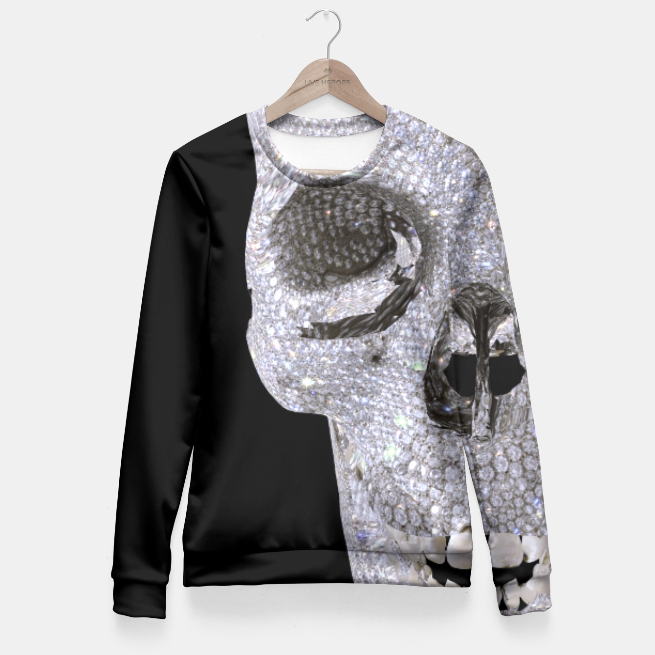 Image of diamond skull Fitted Waist Sweater - Live Heroes