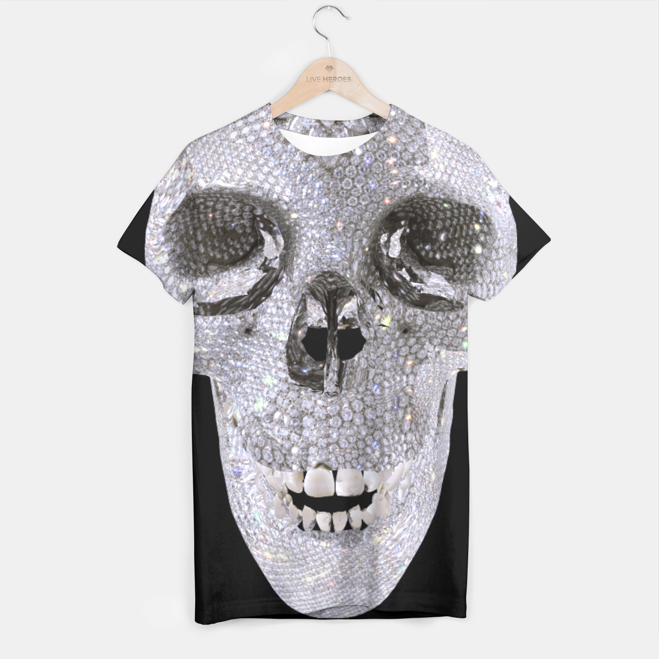 Image of diamond skull T-shirt - Live Heroes