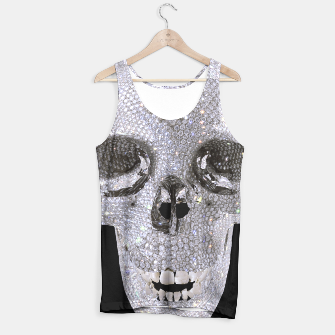 Image of diamond skull Tank Top - Live Heroes