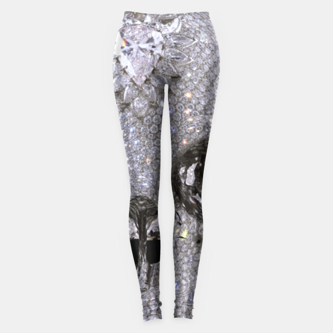 Image of diamond skull Leggings - Live Heroes