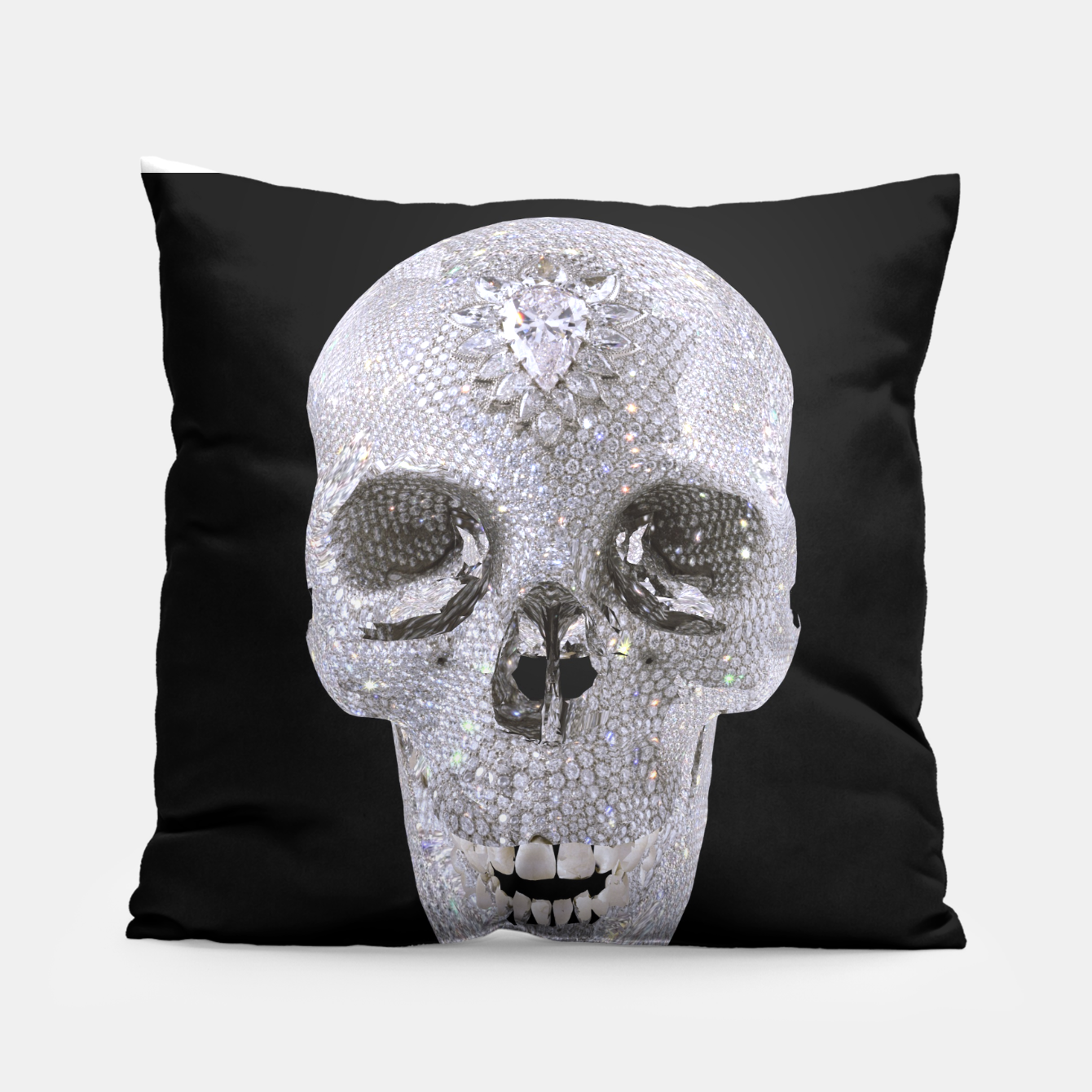 Image of diamond skull Pillow - Live Heroes