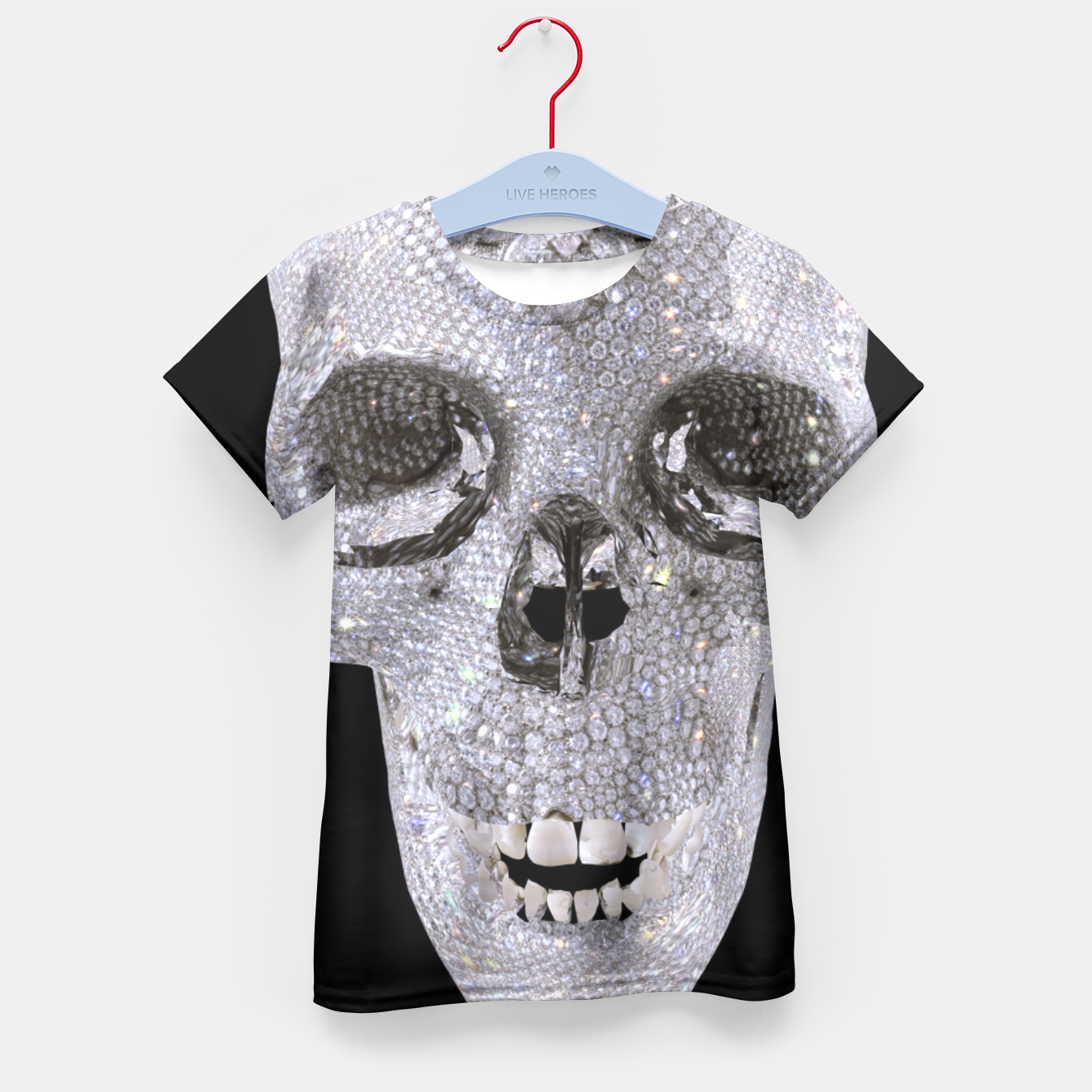 Image of diamond skull Kid's T-shirt - Live Heroes
