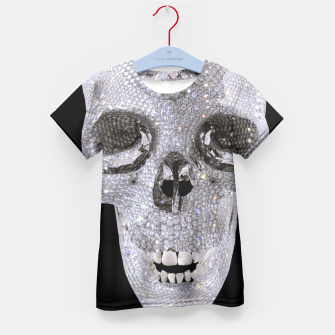 Thumbnail image of diamond skull Kid's T-shirt, Live Heroes