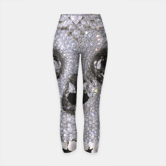 Thumbnail image of diamond skull Yoga Pants, Live Heroes