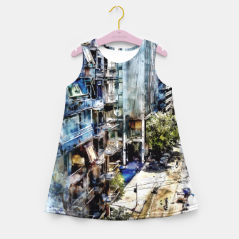 Thumbnail image of Athens city Girl's Summer Dress, Live Heroes