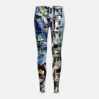 Thumbnail image of Athens city Girl's Leggings, Live Heroes