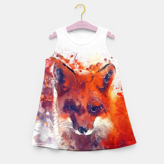 Thumbnail image of Red Fox Girl's Summer Dress, Live Heroes