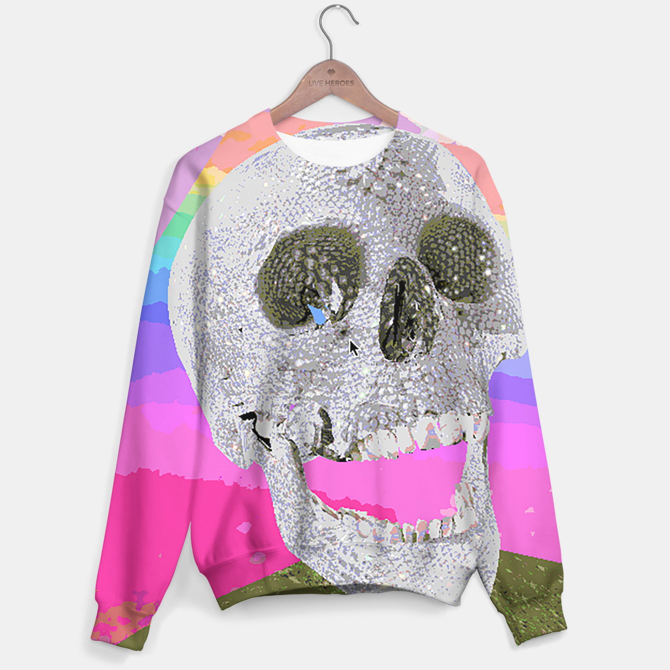 Image of skull chomp Sweater - Live Heroes