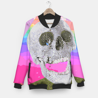 Thumbnail image of skull chomp Baseball Jacket, Live Heroes