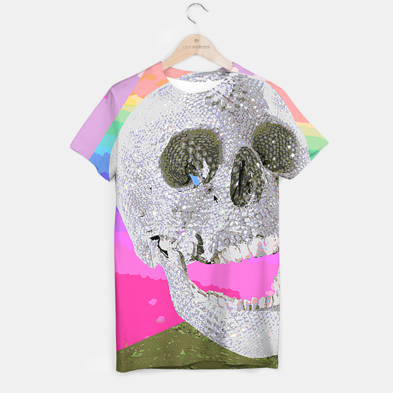 Image of skull chomp T-shirt - Live Heroes
