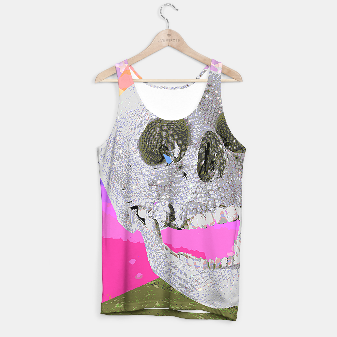 Image of skull chomp Tank Top - Live Heroes