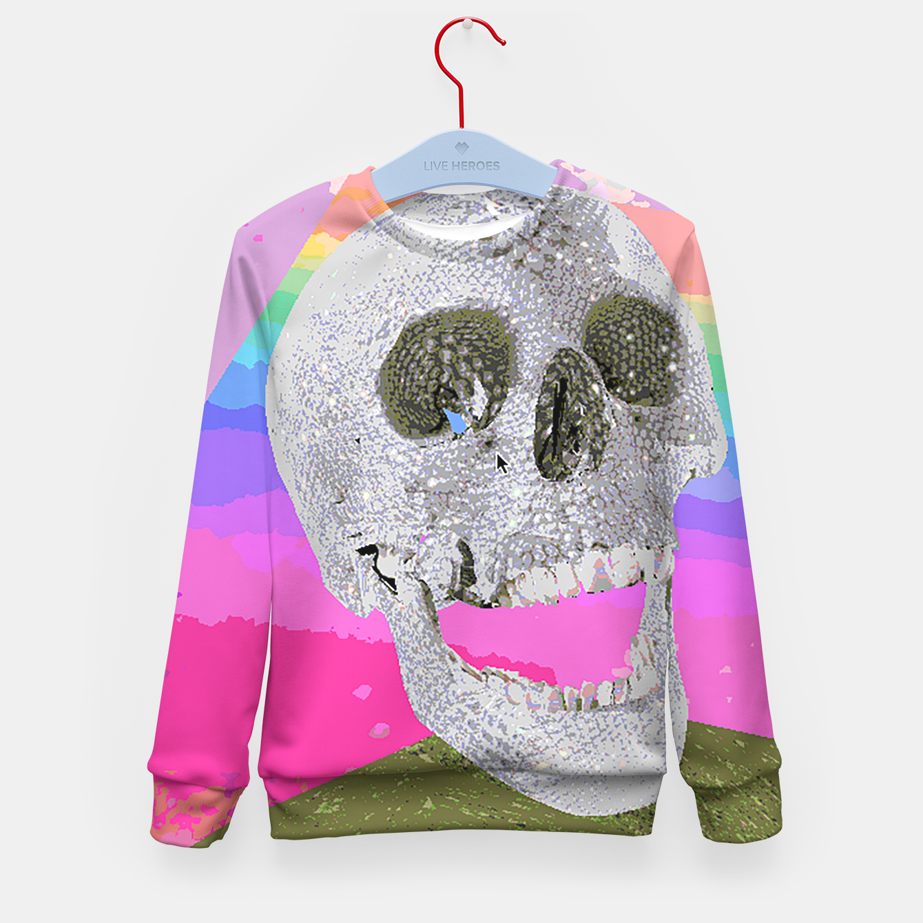 Image of skull chomp Kid's Sweater - Live Heroes