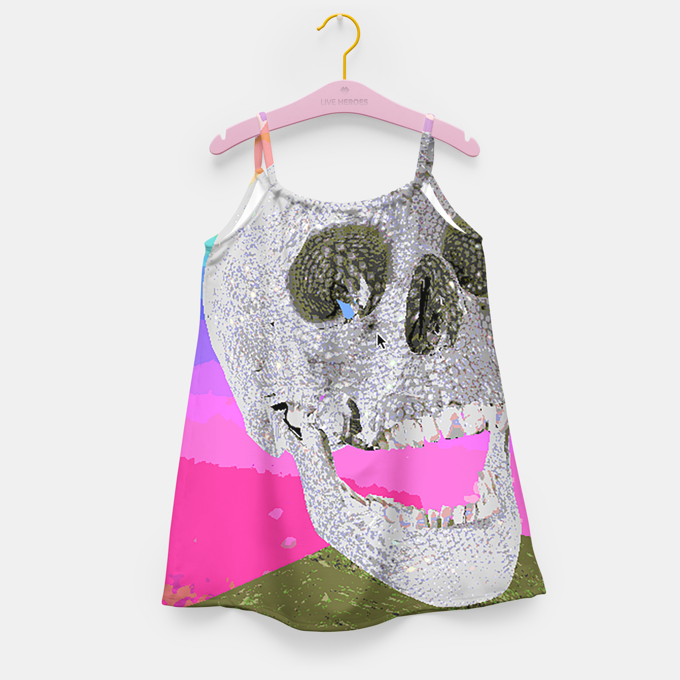 Image of skull chomp Girl's Dress - Live Heroes