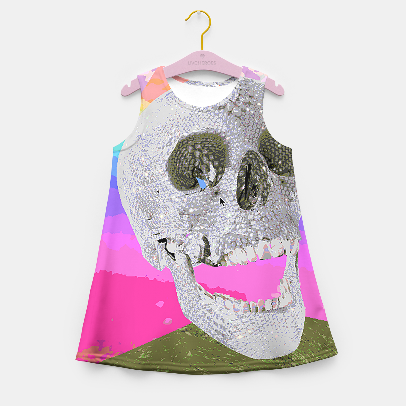 Image of skull chomp Girl's Summer Dress - Live Heroes