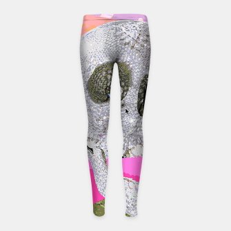 Thumbnail image of skull chomp Girl's Leggings, Live Heroes