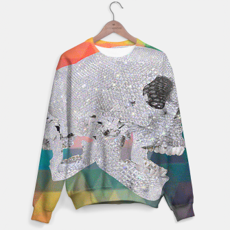 Thumbnail image of diamond skull chomp Sweater, Live Heroes