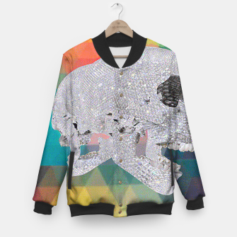 Thumbnail image of diamond skull chomp Baseball Jacket, Live Heroes