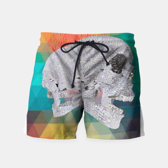 Thumbnail image of diamond skull chomp Swim Shorts, Live Heroes